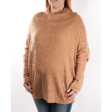 Alfani Womens Brown Dolman Sleeve Turtle Neck Sweater Size XS