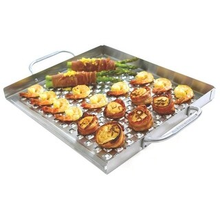 """Broil King 69712 Flat Grill Topper, Stainless Steel, 2.25"""" x 18.75"""" x 13.38""""
