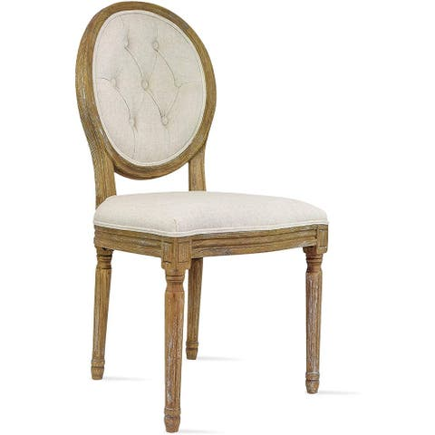 2xhome Designer Button Oval Back Fabric Plastic Dining Side Chair For Kitchen Elegant Padded Seat Cushion Comfortable Dark Wood