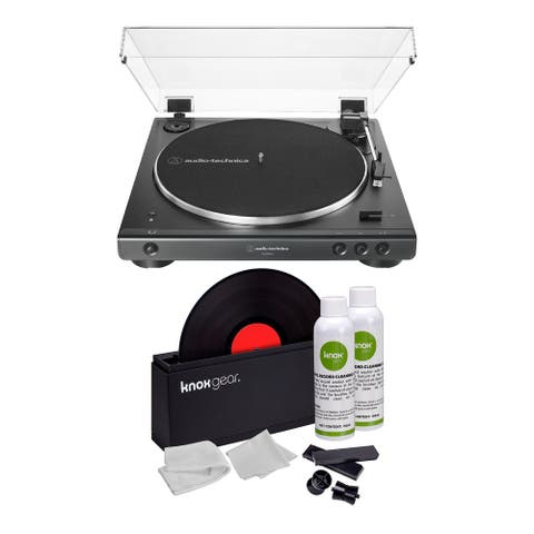 Audio-Technica AT-LP60X Bluetooth Turntable Black with Cleaning Kit