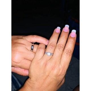 14k White Gold 1/2 ct TDW Diamond Semi Mount Engagement Ring Setting  (I-J, I2-I3)