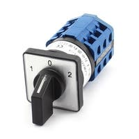 Unique Bargains 660V 10A 1-0-2 Position 12 Screw Terminal 3-Pole Universal Changeover Switch