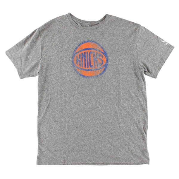 best loved 2d3b5 7ffa8 Shop Adidas Mens New York Knicks NBA Big Better T Shirt Grey -  grey orange blue - l - Free Shipping On Orders Over  45 - Overstock -  22615433