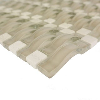 Miseno MT-TIDE5/8RECT Tide - Glass Visual - Wall Tile (Sold by Sheet) - N/A