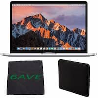 Apple MacBook Pro MNQG2LL/A 13-inch Laptop with Touch Bar (Intel Core i5, 512GB Retina Display), Silver + Padded Case Bundle