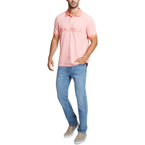 Nautica Mens Big & Tall Polo Shirt Cotton Logo