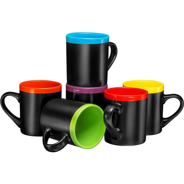 Ceramic Coffee Mugs 12oz Cups Tea Mugs Set of 6. Opens flyout.