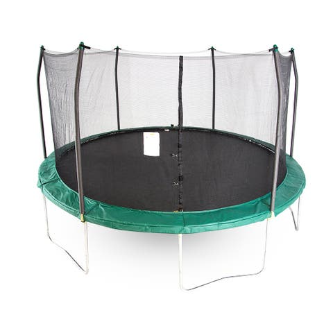 Skywalker Trampolines Green 15-foot Round Trampoline with Enclosure