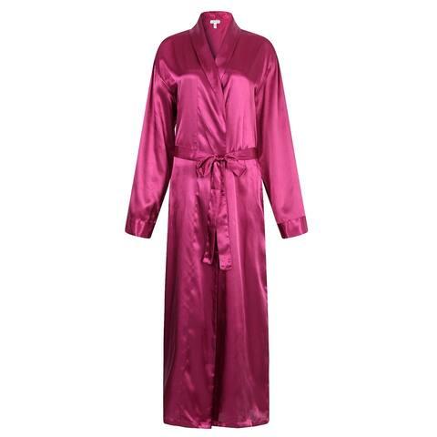 Richie House Men's Satin Robe Bathrobe