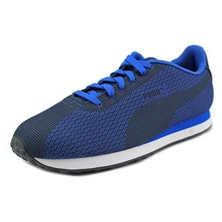 Puma Turin Woven Print Women Round Toe Synthetic Blue Sneakers