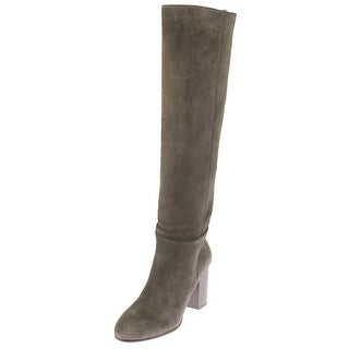 Sam Edelman Womens Silas Over-The-Knee Boots Suede Stacked Heels
