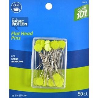 Dritz Quilt 101 Flat Head Pins-50/Pkg