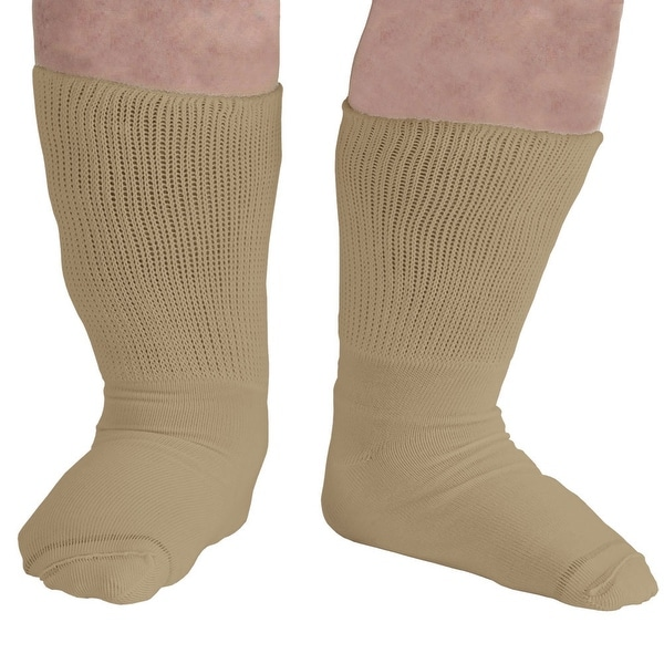 Extra Wide Sock Womens Bariatric Diabetic Crew Socks with Extra Wide Calves