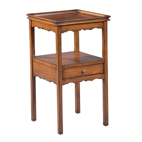 Hekman 81063 15 Inch Wide Wood End Table With Lower Shelf