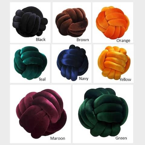 AANNY Design Austin Knot Braid Ball Accent Pillow