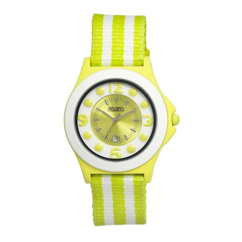 Crayo Carnival Women's Quartz Watch, Nylon Strap