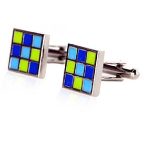 Green Blue Retros Cufflinks
