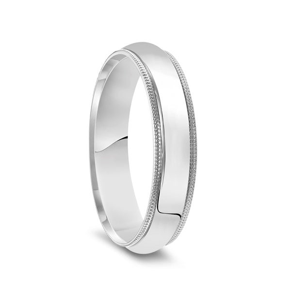 4mm Dome High Polished Wedding Band 14K White Gold