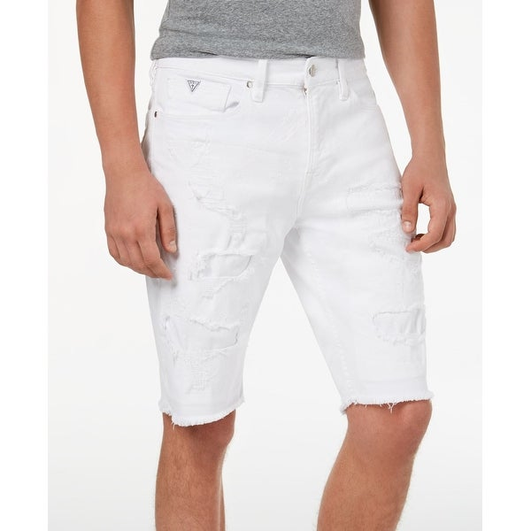 a0b0f0cf34 Shop Guess Wash Mens Distressed Slim Fit Denim Shorts - Free Shipping On  Orders Over $45 - Overstock - 27020815