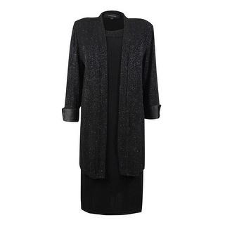 R&M Richards Women's 2PC Glitter Jacket & Shift Dress