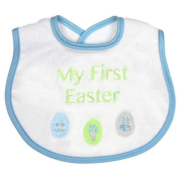 cbcbbe983fb36 Shop Raindrops Baby Boy Blue My First Easter Embroidered Velour ...