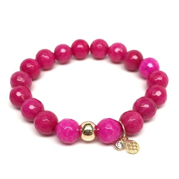 """Fuchsia Quartz Emma 7"""" Bracelet"""