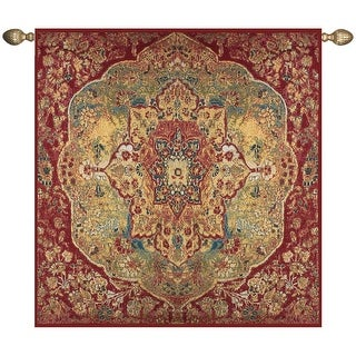 """Grand Bazaar Istanbul Elaborate Red Cotton Wall Art Hanging Tapestry 70"""" x 70"""""""
