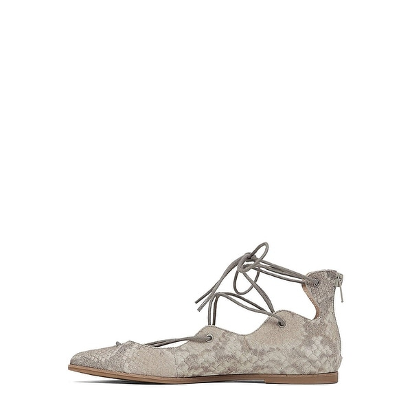 Lucky Brand Womens LK-Billoh Suede Pointed Toe Casual Strappy Sandals