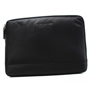 Marc Jacobs NEW Black Nylon 13 Commuter Mallorca Padded Clutch Bag
