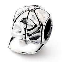 Sterling Silver Reflections Baseball Cap Bead (4mm Diameter Hole)