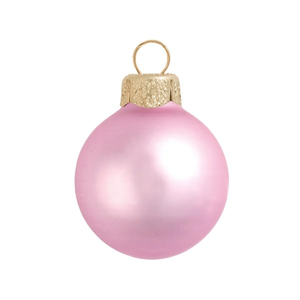 "40ct Matte Pale Pink Glass Ball Christmas Ornaments 1.5"" (40mm)"