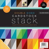 """Textured; White Core; 20 Color/2-3 Each - Dcwv Cardstock Stack Double-Sided 12""""X12"""" 58/Pkg"""
