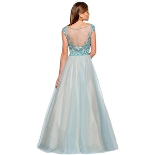 Terani Couture Embellished Sleeveless Formal Dress