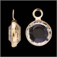 SWAROVSKI ELEMENTS Gold Plated Channel Crystal Charm Crystal 10mm (8)