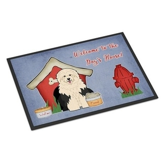 Carolines Treasures BB2850MAT Dog House Collection Old English Sheepdog Indoor or Outdoor Mat 18 x 0.25 x 27 in.