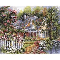 "Victorian Garden - Paint By Number Kit 16""X20"""