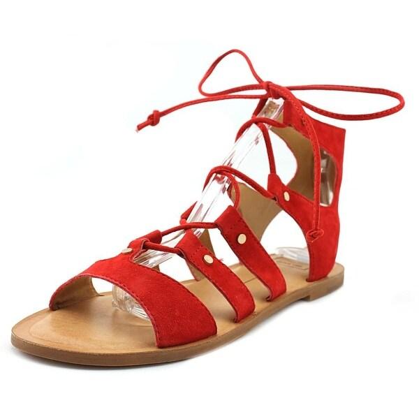 4e259802de6 Shop Dolce Vita Jasmyn Women Open Toe Suede Red Gladiator Sandal ...