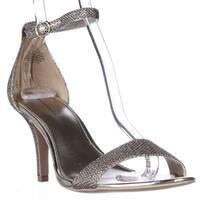 Bandolino Madia Ankle Strap Peep Toe Sandals, Gold