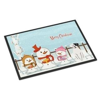 Carolines Treasures BB2445MAT Merry Christmas Carolers White Boxer Cooper Indoor or Outdoor Mat 18 x 0.25 x 27 in.