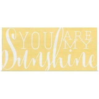 Alli Rogosich Poster Print entitled You Are My Sunshine - multi-color