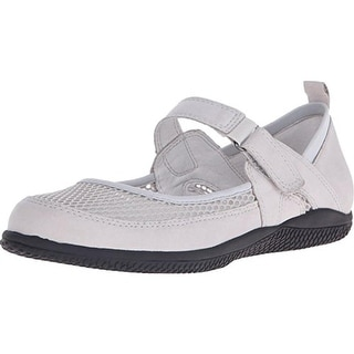 SoftWalk Womens Haddley Leather Mesh Inset Mary Janes