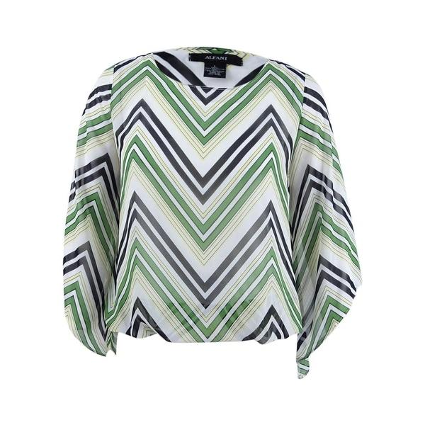 769c71d54ba9f1 Shop Alfani Women s Angel-Sleeve Blouson Top (L