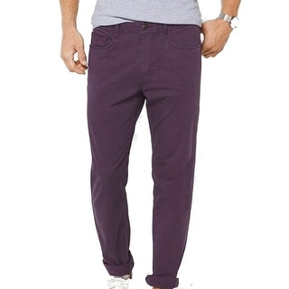 Michael Kors NEW Purple Blackberry Mens Size 36X32 Khakis Chinos Pants