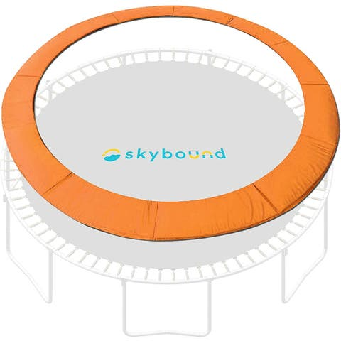 """SkyBound 14ft Trampoline Spring Cover Pad fits up to 7"""" Springs-Orange - 14"""""""