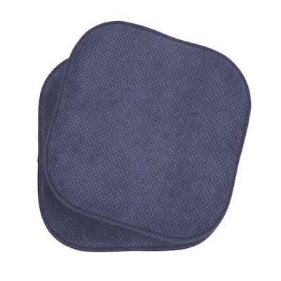 Bon Appetite 2-Piece Cushioned Chair Pad Set, Dark Navy