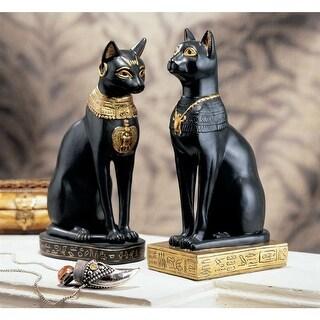 Design Toscano Egyptian Cat Goddess Bastet Statues: Set of Two