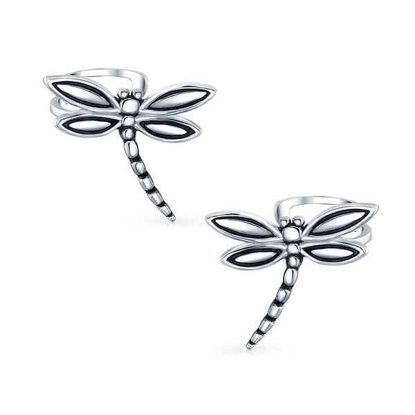 c1488689d Shop Butterfly Dragonfly Cartilage Ear Cuffs Clip Wrap Helix Non Pierced  Earrings For Women Teen 925 Sterling Silver - On Sale - Free Shipping On  Orders ...
