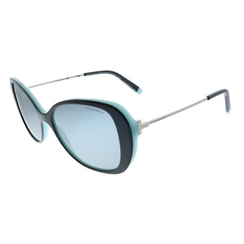 Tiffany & Co. TF 4156 8055/1 Womens Black on Blue Frame Grey Lens Sunglasses