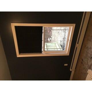 Achim 1-2-3 Vinyl Room Darkening Pleated Window Shade