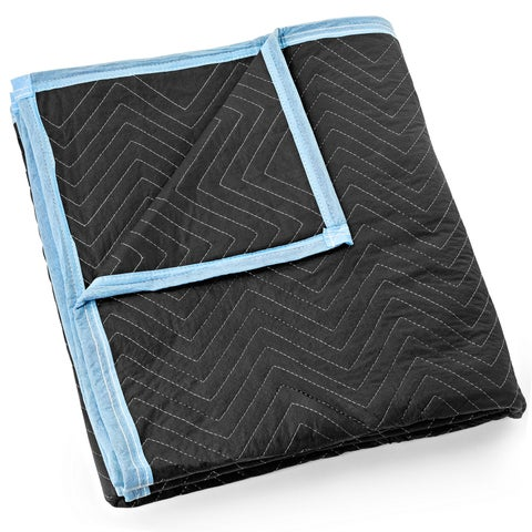 """Moving Blanket Furniture Pad - Ultra Thick Pro - 80"""" x 72"""" Black"""